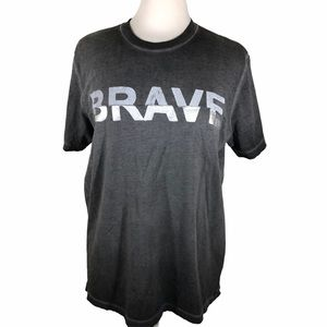 Diesel brand gray over dyed graphic t shirt LARGE